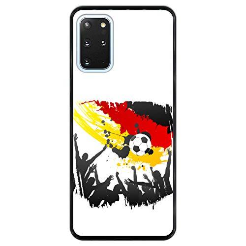 Telefoonhoesje voor [ Samsung Galaxy S20+ - S20+ 5G ] tekening [ Vlag van Duitsland ] Zwart TPU flexibele siliconen schaal