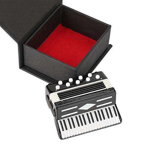 HEEPDD Mini decoración de Instrumentos Musicales, Pantalla de Modelo de acordeón en...