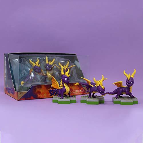 Totaku Spyro Figuren Trilogy 7 cm Nr. 35 Drache Videospiel Set 3 Stück