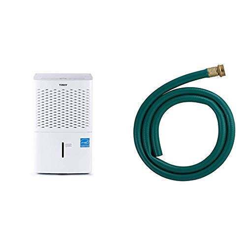 TOSOT 1,500 Sq Ft Energy Star Dehumidifier - 30 Pint & LDR Industries 504 1300 Garden Dehumidifier Drain Hose, 5ft, Green Rubber Finish, 5'