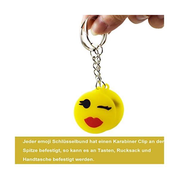 418l0Ia7cDL. SS600  - BESTZY 30 Pcs Mini Emoji Llavero Emoji Encantadora Emoticon Llavero Llavero Emoji de Cara Redonda Decoración de Bolsos…