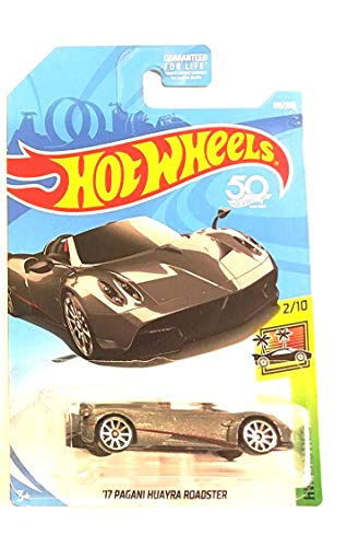 Hot Wheels 2018 50th Anniversary HW Exotics \'17 Pagani Huayra Roadster 119/365, Silver