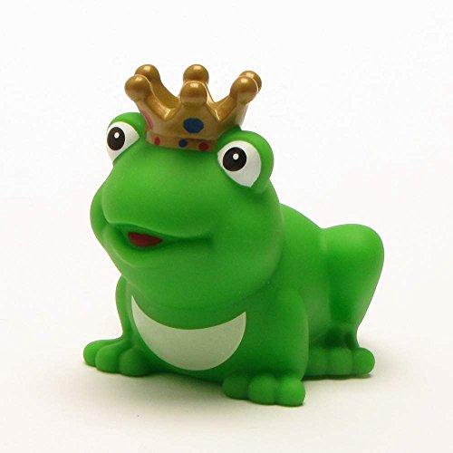 DUCKSHOP I Froschkönig mit goldener Krone I Badeente I L: 8 cm