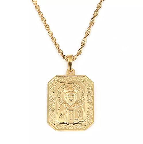 Collar de santo patrón de San Nicolás, Iglesia de cristianismo ortodoxo, Iglesia eterna, joyería de Rusia