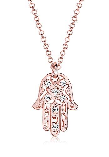 Elli Halskette Damen Hamsa Hand mit Swarovski® Kristalle in 925 Sterling Silber