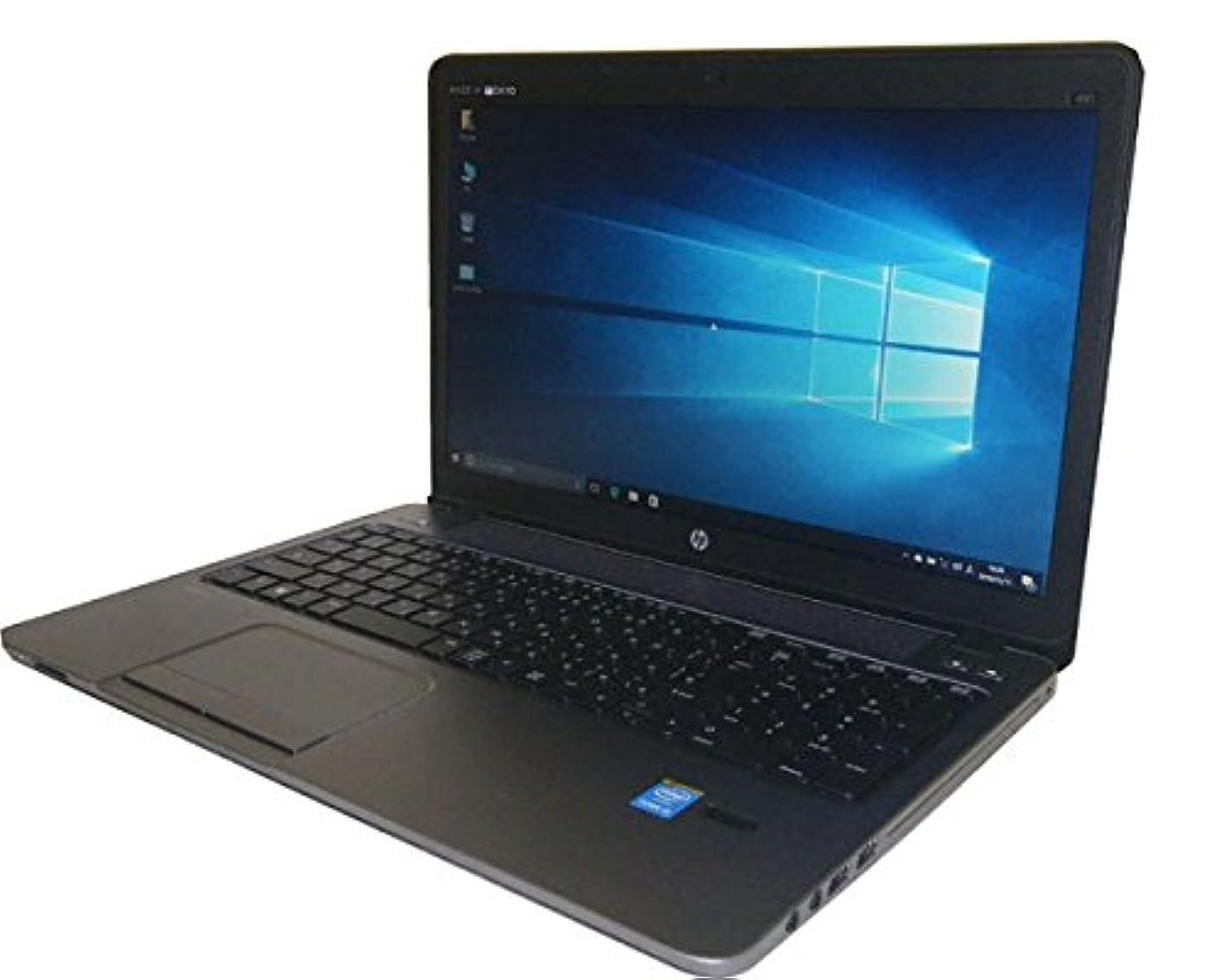殺人盲目エッセイWindows10-64bit 中古ノートパソコン 美品 HP ProBook 450 G1 (F2M07AV) テンキー付き Core i3-4000M 2.4GHz/4GB/320GB/マルチ/WPS Office付き (NO-10718)