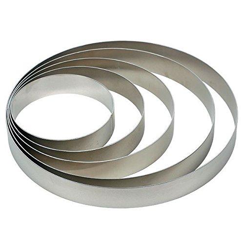 Tortenringe-Set für Etagen-Tortenständer von 3- bis 7 teilig, Höhe 6 cm, Set:5-teilig