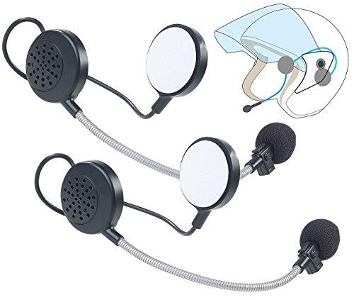 Callstel Gegensprechanlage Helm: 2er-Set Intercom-Stereo-Headsets für Motorrad-Helm, Bluetooth, 10 m (Motorrad Gegensprechanlage)