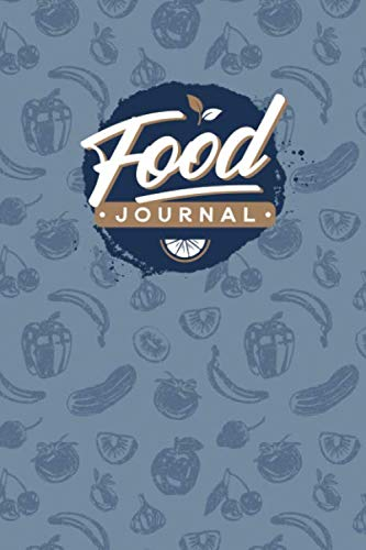 Food Journal: Diet Diary for Tracking Your Daily Food Intake (Blue Retro Theme)