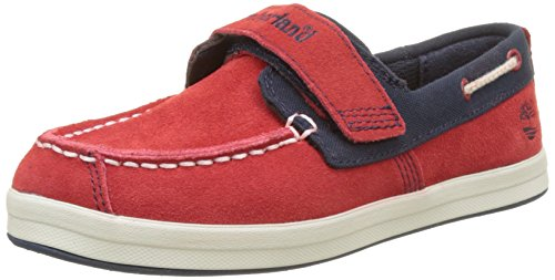 Timberland Dover Bay Hook and Loop, Mocasines Unisex Niños, Rojo (Haute Red with Sapphire 625), 32 EU