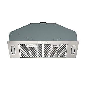 30 Inch Built-In/Insert Range Hood 3-Speed 550 CFM Internal Blower LED Lights Honeycomb Filter