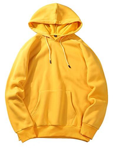 PIZOFF Unisex Kapuzenpullover Hoodie Sweatshirt Mit Kapuze Kapuzenpulli Kapuzensweatshirt AM027-yellow-XL