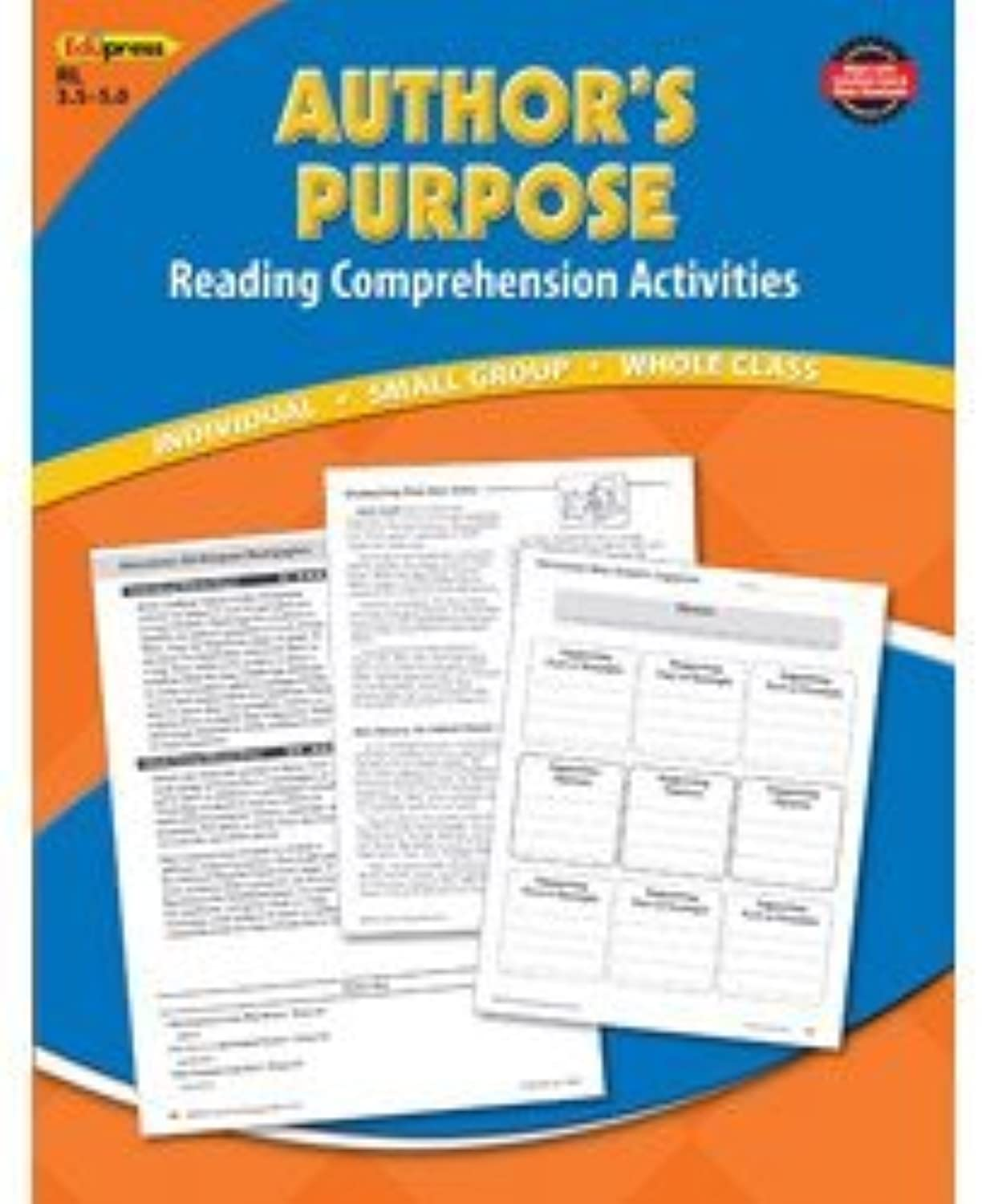 Reading Comprehension Book Authors Purpose bluee Level by Edupress