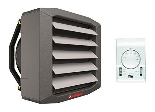 Luftheizer 10 20 30 kW Montagekonsolle inkl. Steuerung Thermostat 3 Stufen Regler Lufterhitzer Hallenheizung Luftheizung Heizgebläse (20 kW)