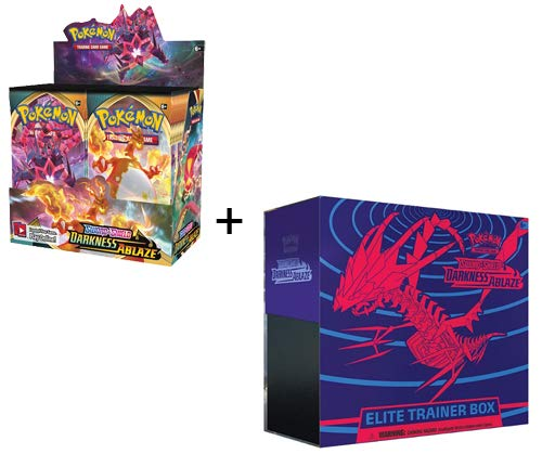 Pokemon Darkness Ablaze Booster Box & Elite Trainer Sword and Shield - 44 Packs Total!