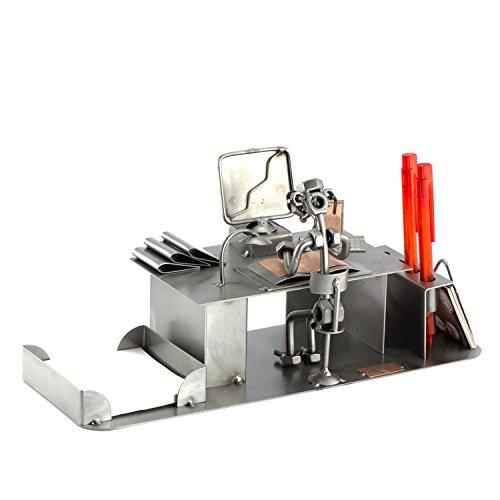 Steelman24 I Schraubenmännchen PC-Computer Schreibtisch Organizer I Made in Germany I Handarbeit I Geschenkidee I Stahlfigur I Metallfigur I Metallmännchen