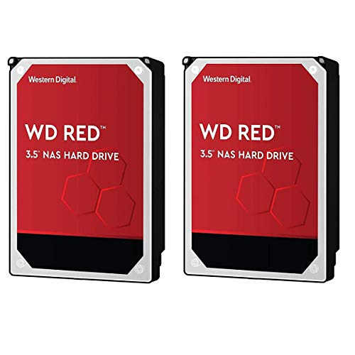 """Western Digital WD 2 Pack Red 6TB NAS 3.5"""" Internal Hard Drive, 5400 RPM, SATA 6Gbps, 256MB Cache"""