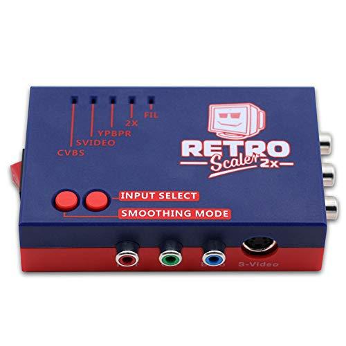 Bobin RetroScaler2X EIN/V-Zu-HDMI-Konverter und Line-Doubler für Retro-Spielekonsolen PS2 / N64 / NES/SEGA Dreamcast/Saturn / MD1 / MD2