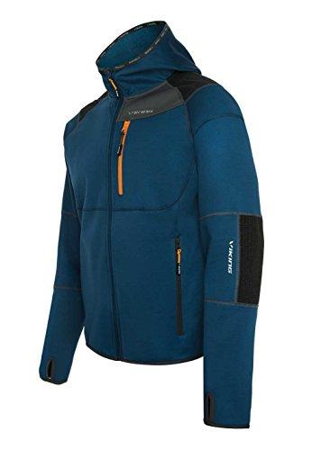VIKING Veste Fonctionnelle pour Hommes - pour L'Extérieur Et La Randonnée - Respirante - Résistante Au Vent Et À l'eau - Alpine Man, Bleu, S
