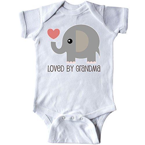 inktastic Loved by Grandma Cute Grandchild Infant Creeper Newborn White 2214c