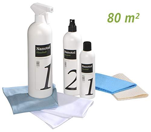 Nanotol Nanoversiegelung-Set für Fenster und Haushalt - spart 50% Reinigungszeit beim Fenster putzen - Haus-Set L (80 m²)