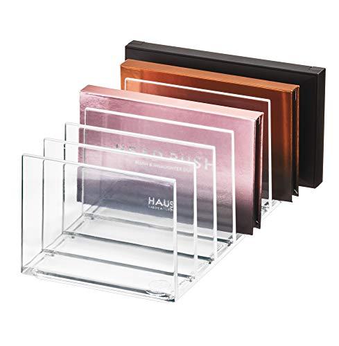 iDesign, Make-up Organizer mit 7 Fächern aus der Signature Series by Sarah Tanno, Kosmetik Aufbewahrung aus Kunststoff für Schmink-Paletten, Transparent, 20,5 x 10,2 x 9,3 cm