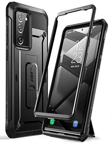 SUPCASE Unicorn Beetle Pro Series Case for Samsung Galaxy Note 20 (2020 Release), Full-Body Rugged Holster & Kickstand Without Built-in Screen Protector (Black)
