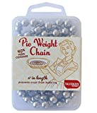 Perfect stainless steel weights for blind baking a pie crust prior to adding your no-bake, fruit, or custard filling Place pie chain directly in the bottom of your pan to hold raw dough down and prevent it from puffing up in the oven Make a lovely an...