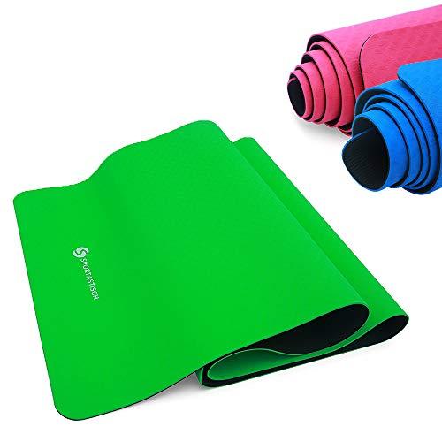 Sportastisch Yogamatte Vergleichssieger¹ Yoga Star Gymnastikmatte, rutschfeste & Gepolsterte Fitnessmatte Sportmatte für Pilates Fitness Gymnastik, GRATIS E-Book & bis zu 3 Jahren Garantie² (Grün)