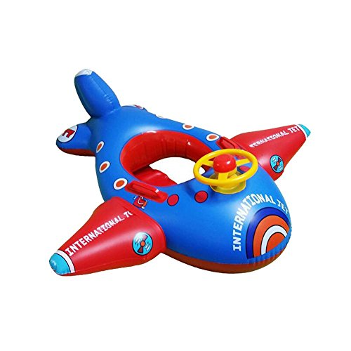 Baby Float, Botitu Aerated Inflatable Pool Float for Kids with Lovely Airplane Design Infant Float, Perfect for Swimming Learning Pool Toys(random color)