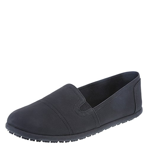 safeTstep Slip Resistant Women's Black Women's Eve Slip-On 8.5 Regular