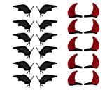DS. DISTINCTIVE STYLE Halloween Hair Alligator Clips Bat and Devil Horns Hair Clips 12 Pairs Hair Accessories Hair Barrettes Clips for Cosplay