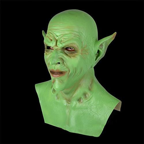WAIY Mscara de diablillo de Halloween, Fiesta de nios Adultos disfrazarse mscara de orco Vampiro Payaso Demonio-Green