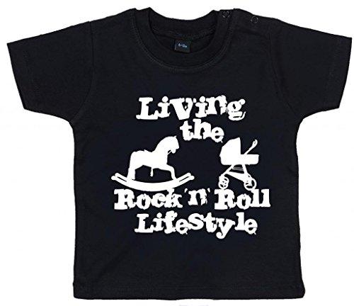 Image Vêtements bébé, Living The Rock 'n Roll Lifestyle, T-Shirt bébé, 6-12m, Noir