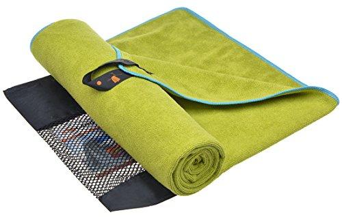 sunland Asciugamani Microfibra Ultra Compatto Super Assorbente Asciugamani Sportive Asciugamani Palestra Asciugamani Bagno 100cmx180cm Giallo-Verde