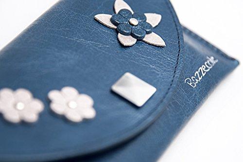 Funda de piel Esotica - Azul para Apple iPhone 4, iPhone 5...