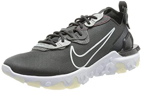 Nike React Vision 3m, Zapatillas para Correr Hombre, Anthracite White Univ Red, 40 EU