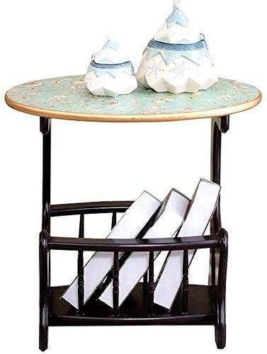 Mesas de decoración de muebles Mesas de centro blancas Mesas auxiliares Mesa para portátil Side End Coffee Revista Organizador Mesita de noche con estantes de almacenamiento para dormitorio Sala de