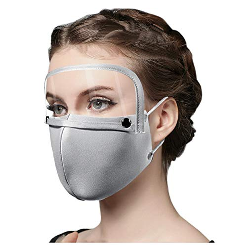 Koippimel 1pc, Reusable and Washable Breathable Cloth Face_Mask with Clear Eyes_Shield (Removable), for Cotton_Masks Indoors and Outdoors Full Protection, Anti-Haze Dust, for Adults, 1123 Style_108