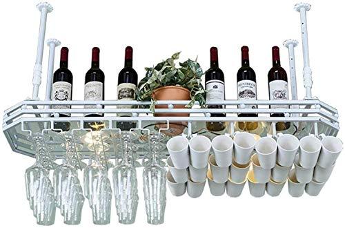 YLongFEI Gratis Staande Wijnrek Wijn Rek Opslag RackGlas Paneel Stemware Racks Plafond Gemonteerd Opknoping Metalen Goblet Opslag Eenheid Drijvende Planken Bars Keuken