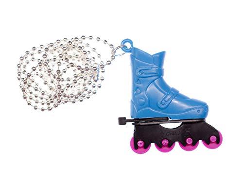 Miniblings Inliner Kette Diskoroller Rollschuhe Inline-Skates Blau Retro Sport