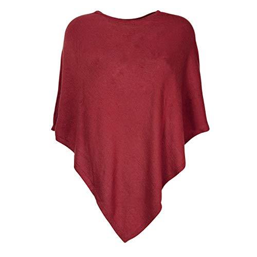 Glamexx24 Mesdames élégant Poncho tricoté Chandail avec Motif étoile