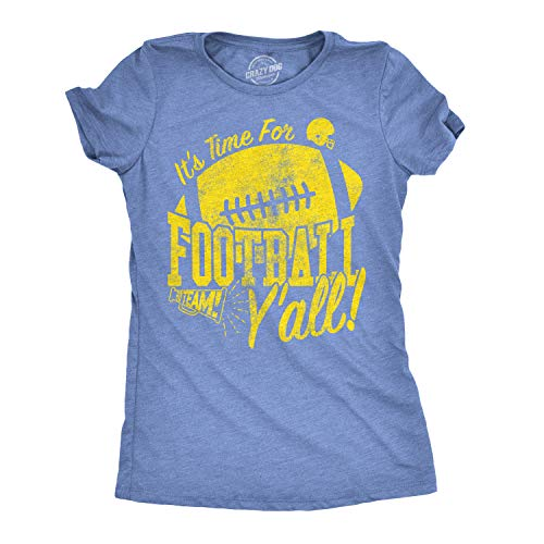 Womens Its Time for Football Yall Funny T Shirt Game Day...