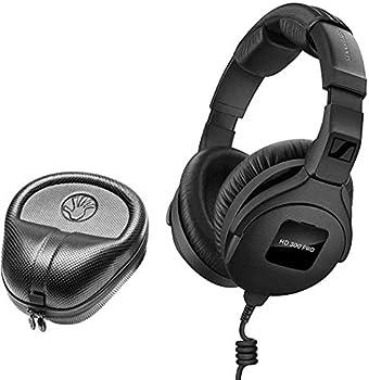 Sennheiser HD 300 Pro Collapsible High-End Monitoring Headphone + SLAPPA SL-HP-07 HardBody PRO Headphone Case