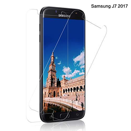 SNUNGPHIR® Cristal Templado Samsung Galaxy J7 2017, [3-Pack] Protector Pantalla Samsung J7 2017 Cristal Templado [2.5D Borde Redondo] [9H Dureza] [Alta Definición] [Anti-Arañazos/Huella Digital]