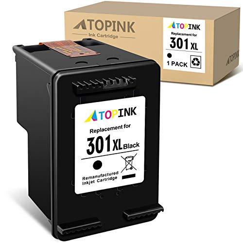 ATOPINK - Cartucho de tinta remanufacturado para HP 301 301XL para HP DeskJet 2050 2540 3050 1510 Envy 4500 5530 5532 Officejet 2620 2622 4630 4636 (1 negro)