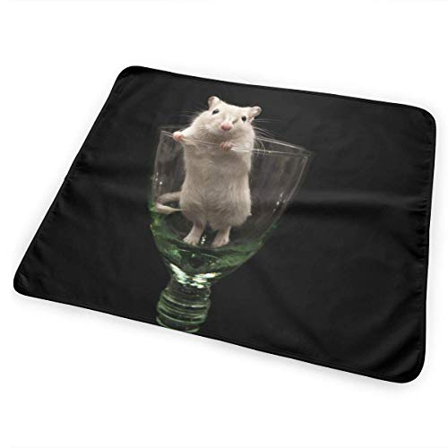 Voxpkrs Diaper Changing Pad Diaper Change Mat Mouse in Glass Pattern 25.5 x 31.5 inches