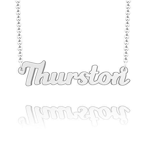 JewelryJo Thurston Name Necklace cat Necklaces Best Stand Diffuser Elephant Angel Essential