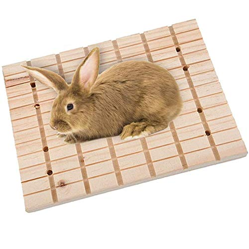 Hamiledyi Bunny Toys Rabbit Foot Pad Chinchilla Guinea Pig Scratching Wood Board