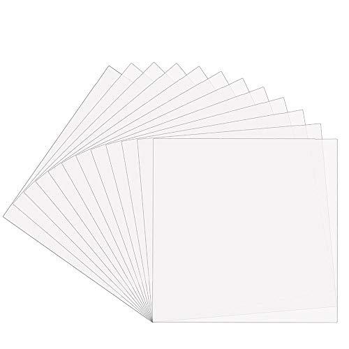EGOSKY 12Pcs 7mil Blank Stencil Sheets, 12 x 12 inch Mylar Template Stencil...